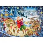 Puzzle  Ravensburger-19660 Santa's Christmas Party