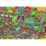 Puzzle  Ravensburger-19662 Où est Charlie ? Charlie chez les Cow-boys