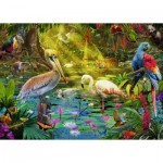 Puzzle  Ravensburger-19673 Le Paradis des Oiseaux