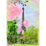 Puzzle  Ravensburger-19708 Les Ballons de la Tour Eiffel