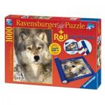 Ravensburger-19911 Tapis de Puzzle 1000 Pièces + Puzzle Loup