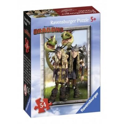 Ravensburger-72614-09436-1 Mini Puzzle - Dragons