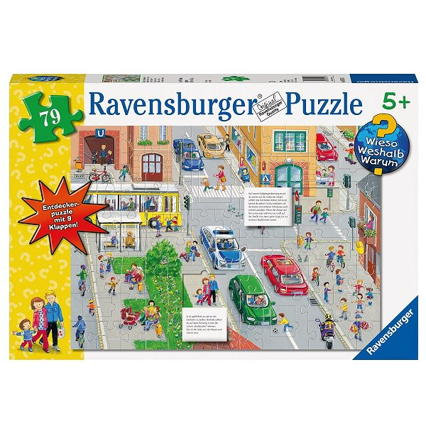 puzzle respecte le code de la route en allemand ravensburger 05507 79 pi ces puzzles. Black Bedroom Furniture Sets. Home Design Ideas