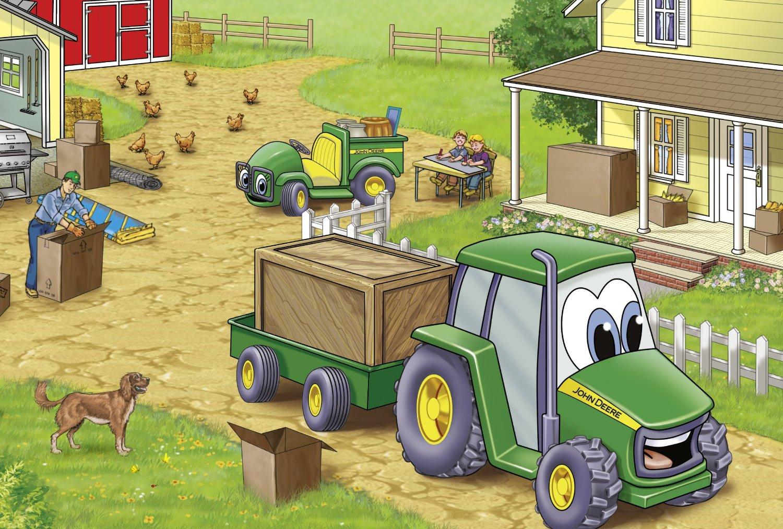 4 puzzles tracteurs john deere
