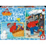 Schmidt-Spiele-55278 2 puzzles Benjamin Blümchen: Navigateur et Conducteur de train