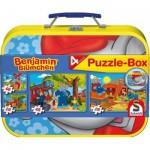 Schmidt-Spiele-55594 Puzzle 26 et 48 pièces - Coffret 4 puzzles : Benjamin l'éléphant