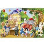 Puzzle  Schmidt-Spiele-56023 Benjamin Blümchen: Fête du zoo