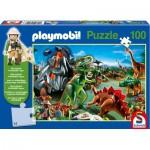 Puzzle  Schmidt-Spiele-56042 Playmobil : Au pays des Dinosaures