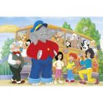 Puzzle  Schmidt-Spiele-56049 Benjamin Blümchen : Voyage au Zoo