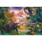 Puzzle  Schmidt-Spiele-56129 La Vallée des Dinosaures
