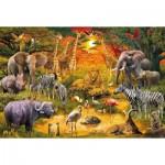 Puzzle  Schmidt-Spiele-56195 Animaux d'Afrique