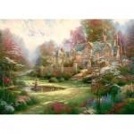 Puzzle  Schmidt-Spiele-57453 Thomas Kinkade : Le Manoir