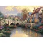 Puzzle  Schmidt-Spiele-57466 Thomas Kinkade : Le vieux pont