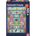 Puzzle  Schmidt-Spiele-58214 Fresque Paradisiaque