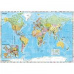 Puzzle  Schmidt-Spiele-58289 Carte du Monde en Allemand
