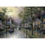Puzzle  Schmidt-Spiele-58441 Thomas Kinkade : Le réveil du village