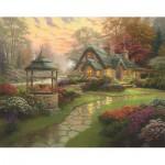 Puzzle  Schmidt-Spiele-58463 Thomas Kinkade : La Maison au Puits