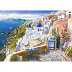 Puzzle  Schmidt-Spiele-58560 Sam Park : Vue de Santorin