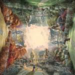 Puzzle  Schmidt-Spiele-59294 Thomas Kinkade :  Jardin Victorien