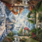 Puzzle  Schmidt-Spiele-59295 Thomas Kinkade : Chapelle en montagne