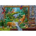Puzzle  Schmidt-Spiele-59337 Jan Patrik Krasny, Coming to Life, Tigre dans la Jungle