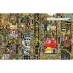 Puzzle  Schmidt-Spiele-59355 Colin Thompson: Paysage Uurbain Fantastique