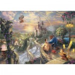 Puzzle  Schmidt-Spiele-59475 Thomas Kinkade - Disney, La Belle et la Bête