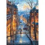 Puzzle  Schmidt-Spiele-59560 Evgeny Lushpin - Matin de Printemps à Montmartre