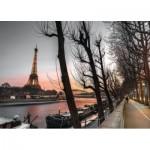 Puzzle  Tactic-52840 Paris et la Tour Eiffel au Crépuscule