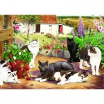 Puzzle  The-House-of-Puzzles-1585 Pièces XXL - Cool Cats