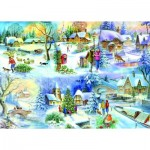 Puzzle  The-House-of-Puzzles-1622 Pièces XXL - Snowy Afternoon