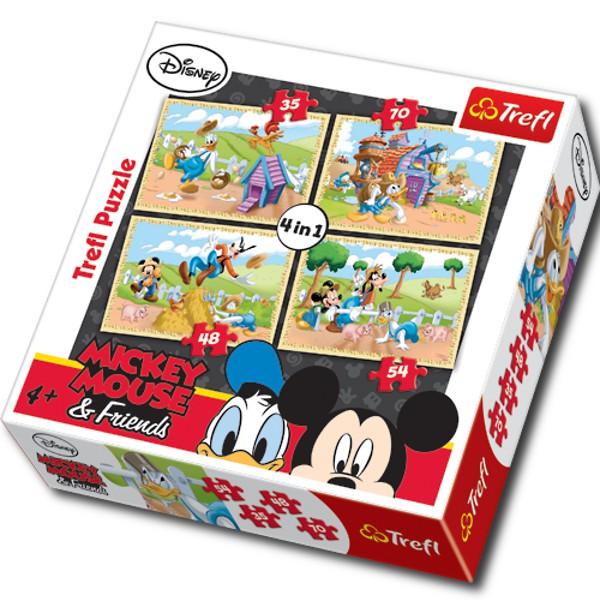 4 puzzles en 1 mickey mouse et ses amis trefl 34117 35 pi ces puzzles mickey planet 39 puzzles - Mickey mouse et ses amis ...