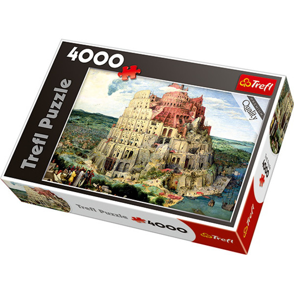 puzzle brueghel la tour babel trefl 45001 4000 pi ces puzzles art planet 39 puzzles. Black Bedroom Furniture Sets. Home Design Ideas