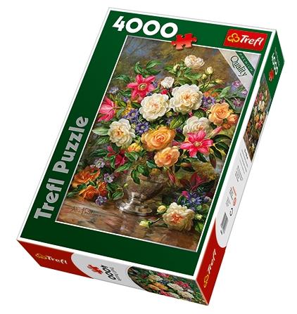 puzzle fleurs pour la reine elisabeth trefl 45003 4000. Black Bedroom Furniture Sets. Home Design Ideas