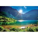 Puzzle  Trefl-10202 Pologne, Lac Morskie Oko : Les Tatras