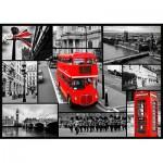Puzzle  Trefl-10278 Royaume-Uni : Collage londonien