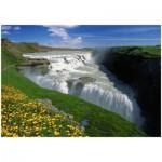 Puzzle  Trefl-10314 Islande : Golden Falls