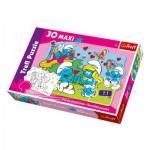 Puzzle  Trefl-14168 Maxi Pièces Recto/Verso : Courtisons la Schtroumpfette