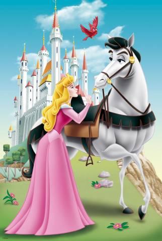 puzzle princesses disney la belle au dormant trefl 15146. Black Bedroom Furniture Sets. Home Design Ideas