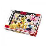 Puzzle  Trefl-15237 Mickey et Minnie avec Pluto