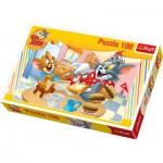 Puzzle  Trefl-16196 Tom et Jerry : Repas fast-food