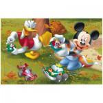 Puzzle  Trefl-19278 Mickey et Donald jouent aux voitures radio-commandées
