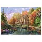 Puzzle  Trefl-26136 Dominic Davison : Cottage by the Lake