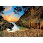 Puzzle  Trefl-27048 Espagne, Costa Brava : Coucher de soleil