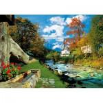 Puzzle  Trefl-27061 Allemagne : le ruisseau dans la montagne