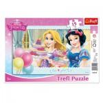 Trefl-31210 Puzzle Cadre - Disney Princesses