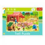 Trefl-31216 Puzzle Cadre - La Ferme