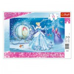 Trefl-31229 Puzzle Cadre - Disney Princesses