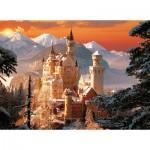 Puzzle  Trefl-33025 Allemagne : Neuschwanstein sous la neige