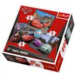 Trefl-34105 3 Puzzles Cars